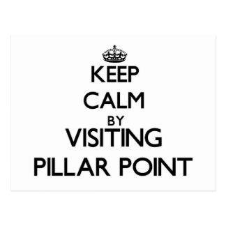 Keep calm by visiting Pillar Point California Postcard