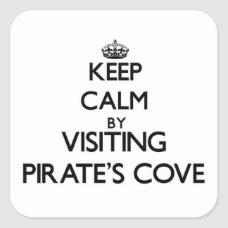 Keep calm by visiting Pirate'S Cove Alabama Stickers