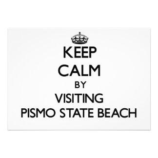 Keep calm by visiting Pismo State Beach California Custom Invite