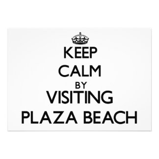 Keep calm by visiting Plaza Beach New York Personalized Invites