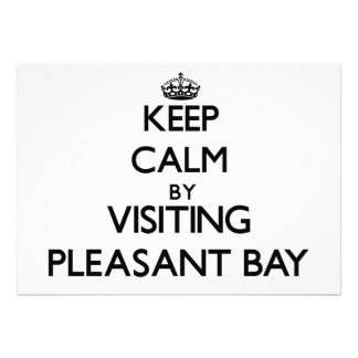 Keep calm by visiting Pleasant Bay Massachusetts Personalized Invites