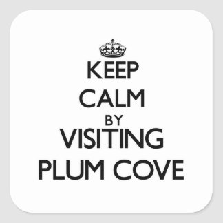 Keep calm by visiting Plum Cove Massachusetts Sticker