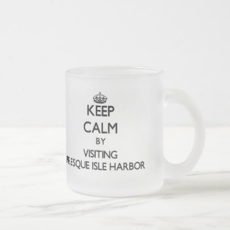 Keep calm by visiting Presque Isle Harbor Michigan Mugs