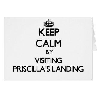 Keep calm by visiting Priscilla'S Landing Massachu Greeting Card
