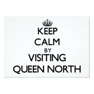 Keep calm by visiting Queen North New Jersey 5x7 Paper Invitation Card