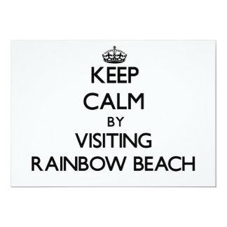 Keep calm by visiting Rainbow Beach Illinois 5x7 Paper Invitation Card