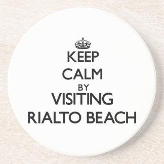 Keep calm by visiting Rialto Beach Washington Drink Coaster