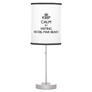 Keep calm by visiting Rio Del Mar Beach California Table Lamp