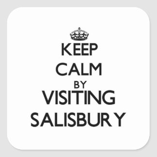 Keep calm by visiting Salisbury Massachusetts Square Stickers