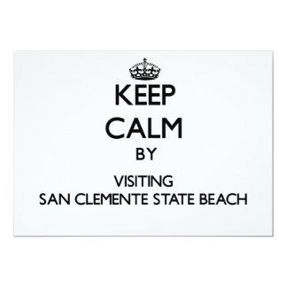 Keep calm by visiting San Clemente State Beach Cal Custom Invites