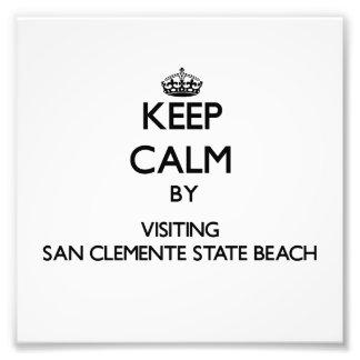 Keep calm by visiting San Clemente State Beach Cal Photo Print
