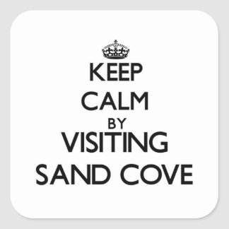 Keep calm by visiting Sand Cove Wisconsin Stickers