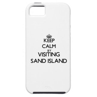 Keep calm by visiting Sand Island Hawaii iPhone 5 Cover