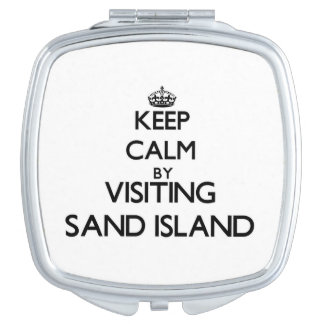 Keep calm by visiting Sand Island Hawaii Travel Mirrors
