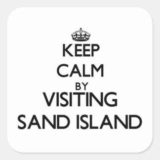 Keep calm by visiting Sand Island Hawaii Stickers