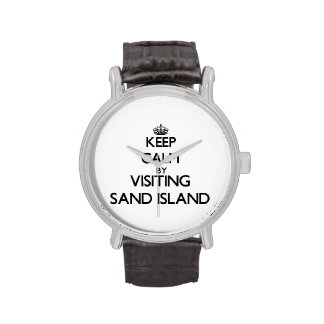 Keep calm by visiting Sand Island Hawaii Wristwatches