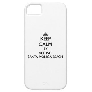 Keep calm by visiting Santa Monica Beach Florida iPhone 5 Covers