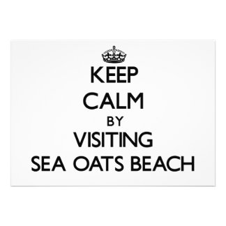 Keep calm by visiting Sea Oats Beach Florida Personalized Invitations
