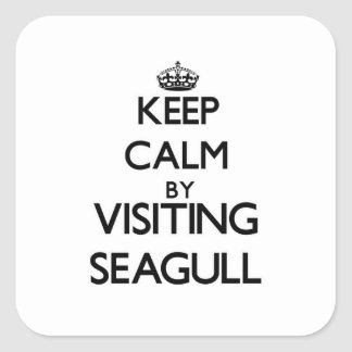 Keep calm by visiting Seagull Massachusetts Square Sticker