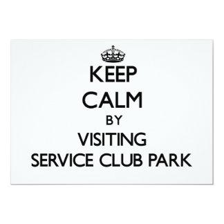 Keep calm by visiting Service Club Park Florida 5x7 Paper Invitation Card