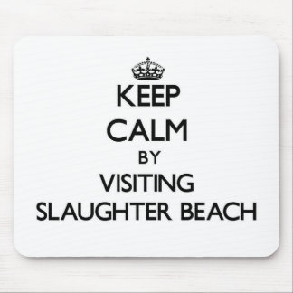 Keep calm by visiting Slaughter Beach Delaware Mouse Pad