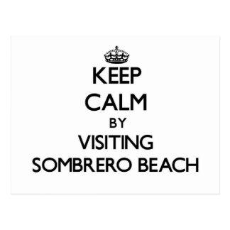 Keep calm by visiting Sombrero Beach Florida Post Cards