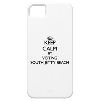 Keep calm by visiting South Jetty Beach Florida iPhone 5 Case