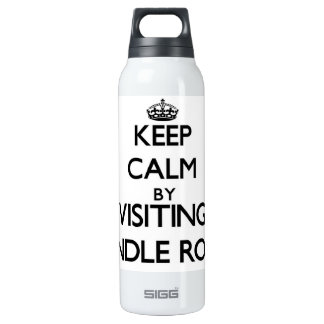 Keep calm by visiting Spindle Rock Massachusetts 16 Oz Insulated SIGG Thermos Water Bottle