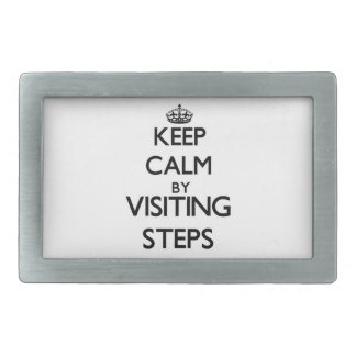 Keep calm by visiting Steps Massachusetts Belt Buckle