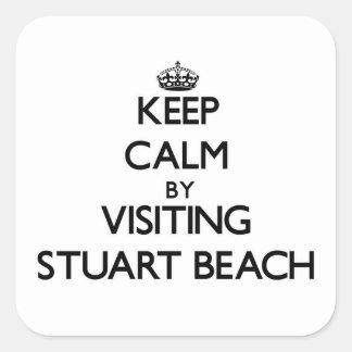 Keep calm by visiting Stuart Beach Florida Sticker