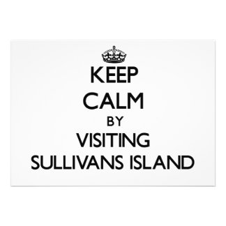 Keep calm by visiting Sullivans Island South Carol Custom Announcements