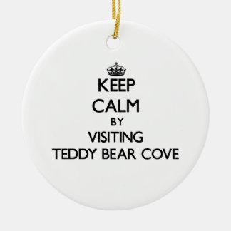 Keep calm by visiting Teddy Bear Cove Washington Ornaments