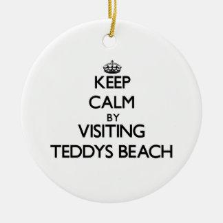 Keep calm by visiting Teddys Beach Rhode Island Ornaments