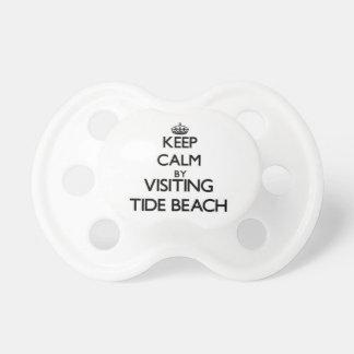 Keep calm by visiting Tide Beach California Pacifiers