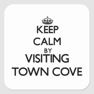 Keep calm by visiting Town Cove Massachusetts Sticker