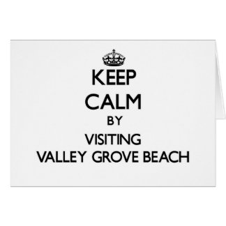 Keep calm by visiting Valley Grove Beach New York Stationery Note Card