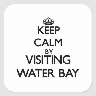 Keep calm by visiting Water Bay Virgin Islands Square Sticker