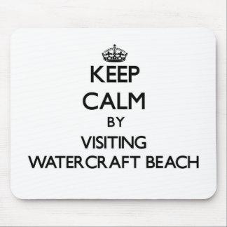 Keep calm by visiting Watercraft Beach Wisconsin Mousepads