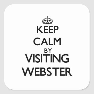Keep calm by visiting Webster New Jersey Square Sticker