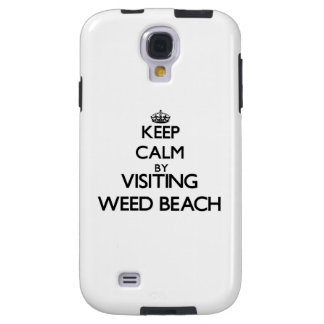 Keep calm by visiting Weed Beach Connecticut Galaxy S4 Case