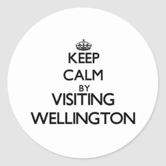 Keep calm by visiting Wellington Maryland Sticker