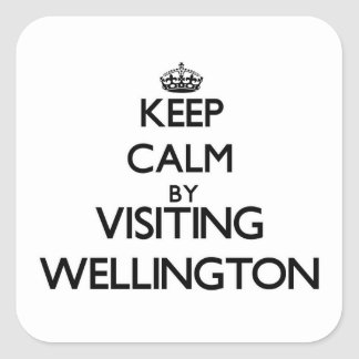 Keep calm by visiting Wellington Maryland Square Stickers