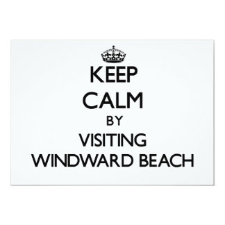 Keep calm by visiting Windward Beach New Jersey 5x7 Paper Invitation Card