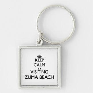 Keep calm by visiting Zuma Beach California Keychain