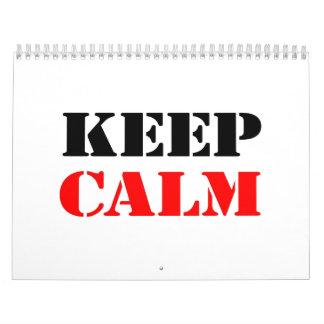 Keep Calm Calendars