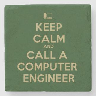 Keep Calm Call a Computer Engineer Stone Coaster
