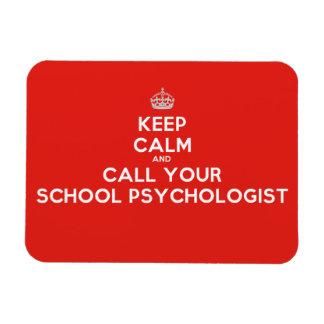 Keep Calm & Call a School Psychologist Flex Magnet