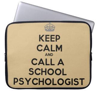 Keep Calm & Call a School Psychologist Laptop Case Computer Sleeve