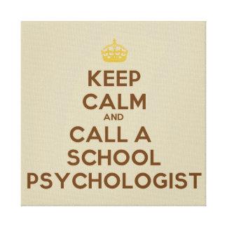 Keep Calm & Call a School Psychologist Wall Print