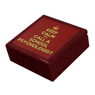 Keep Calm & Call a School Psychologist (wood box) Keepsake Box
